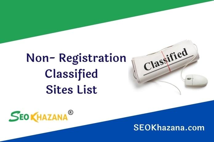 Non Registration Classified Sites List