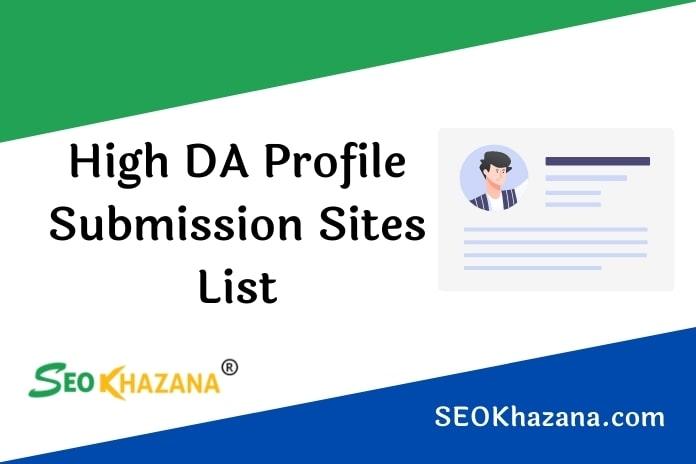 Profile Submission Sites List